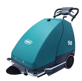 Tennant S8 Wide Area Battery Walk Behind Sweeper