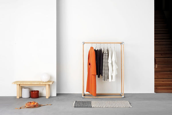 RackBuddy Kasper - clothes rack made of oak wood