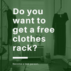 Become our test person and receive a clothes rack for free!