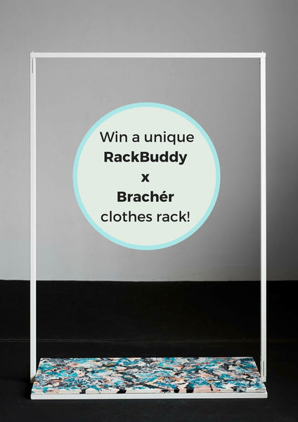 Giveaway - win a unique RackBuddy x Martin Brachér clothes rack