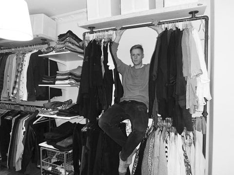 RackBuddy founder Lasse with one of the first closet solutions