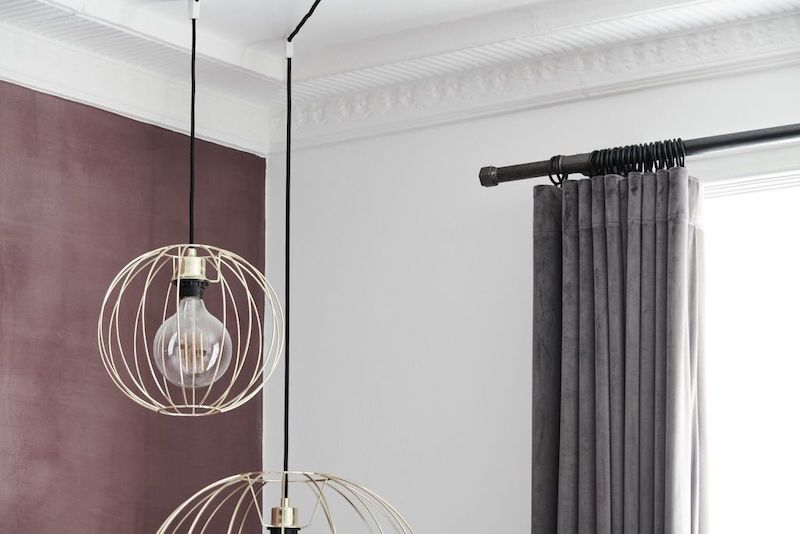curtain rail made from waterpipes