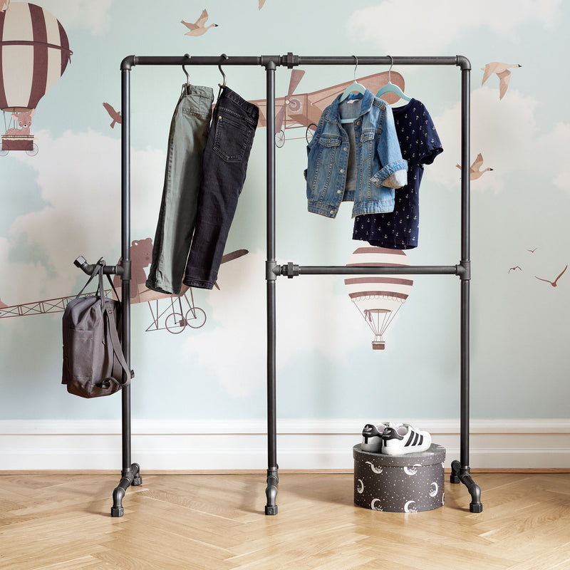 RackBuddy Benny - double rail clothes rack with hook for kids