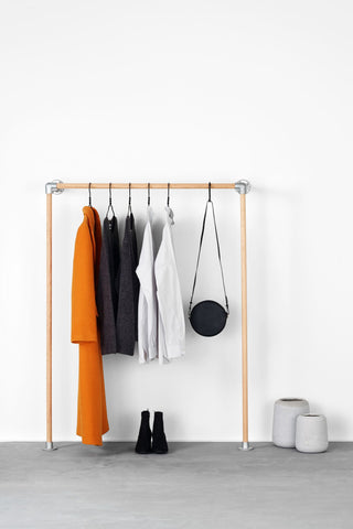 RackBuddy Monika - simple & elegant clothes rack made from oak wood