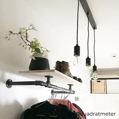 RackBuddy Marlow – Wall-mounted clothes rail with shelf