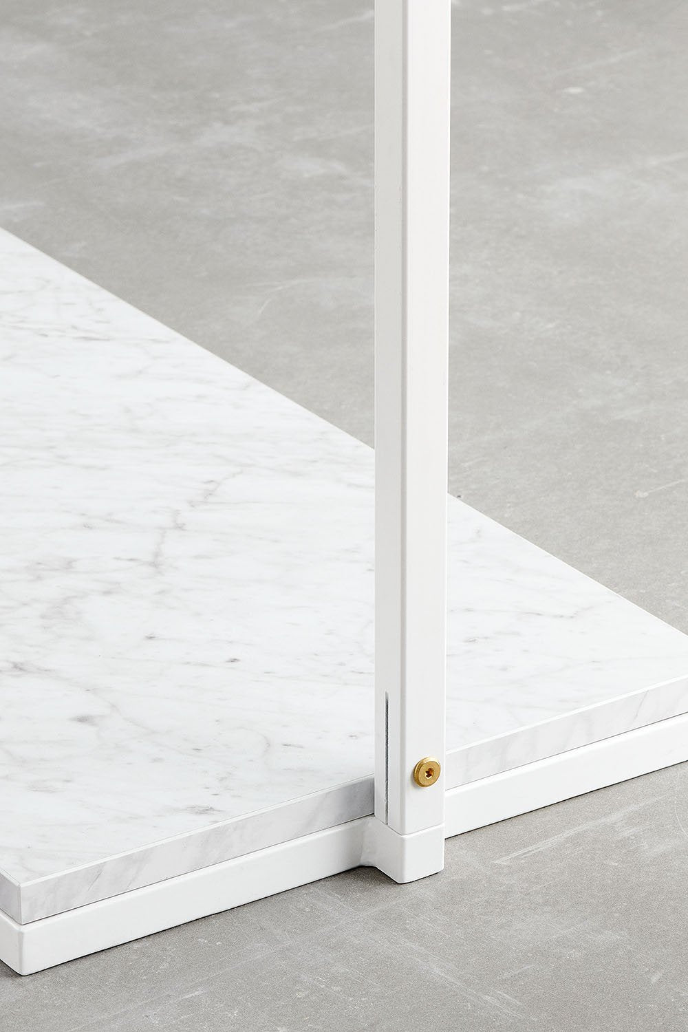white marble look shelf for RackBuddy Frame Collection