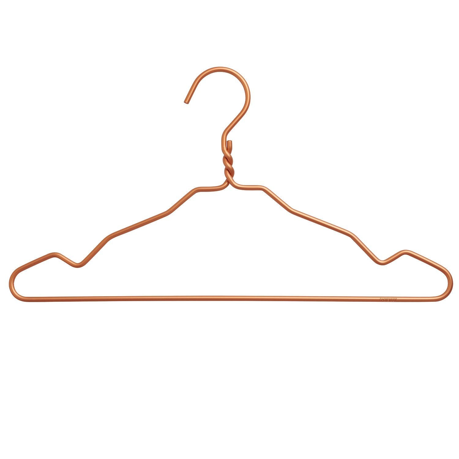 Clothes hangers in copper