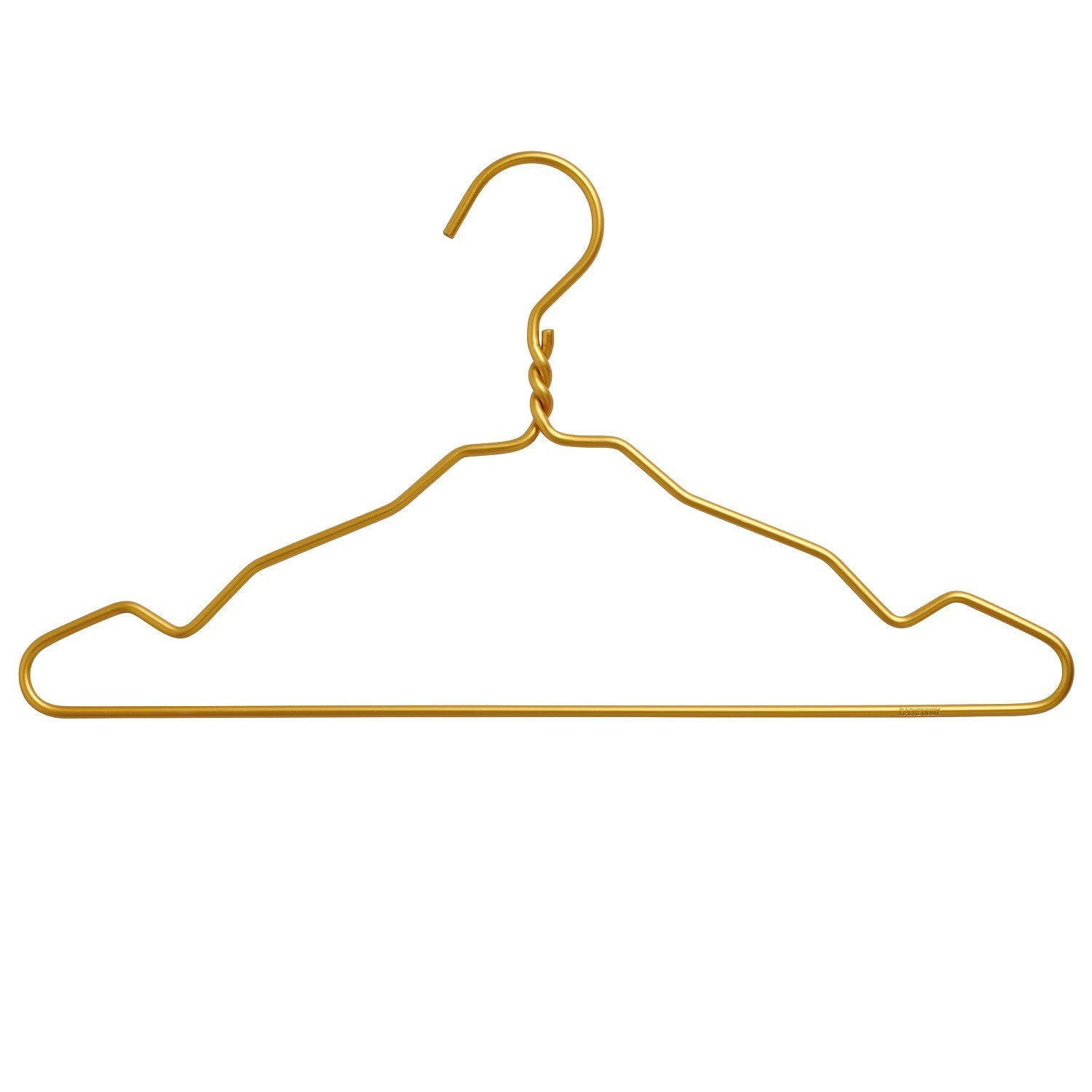 Clothes hangers in gold