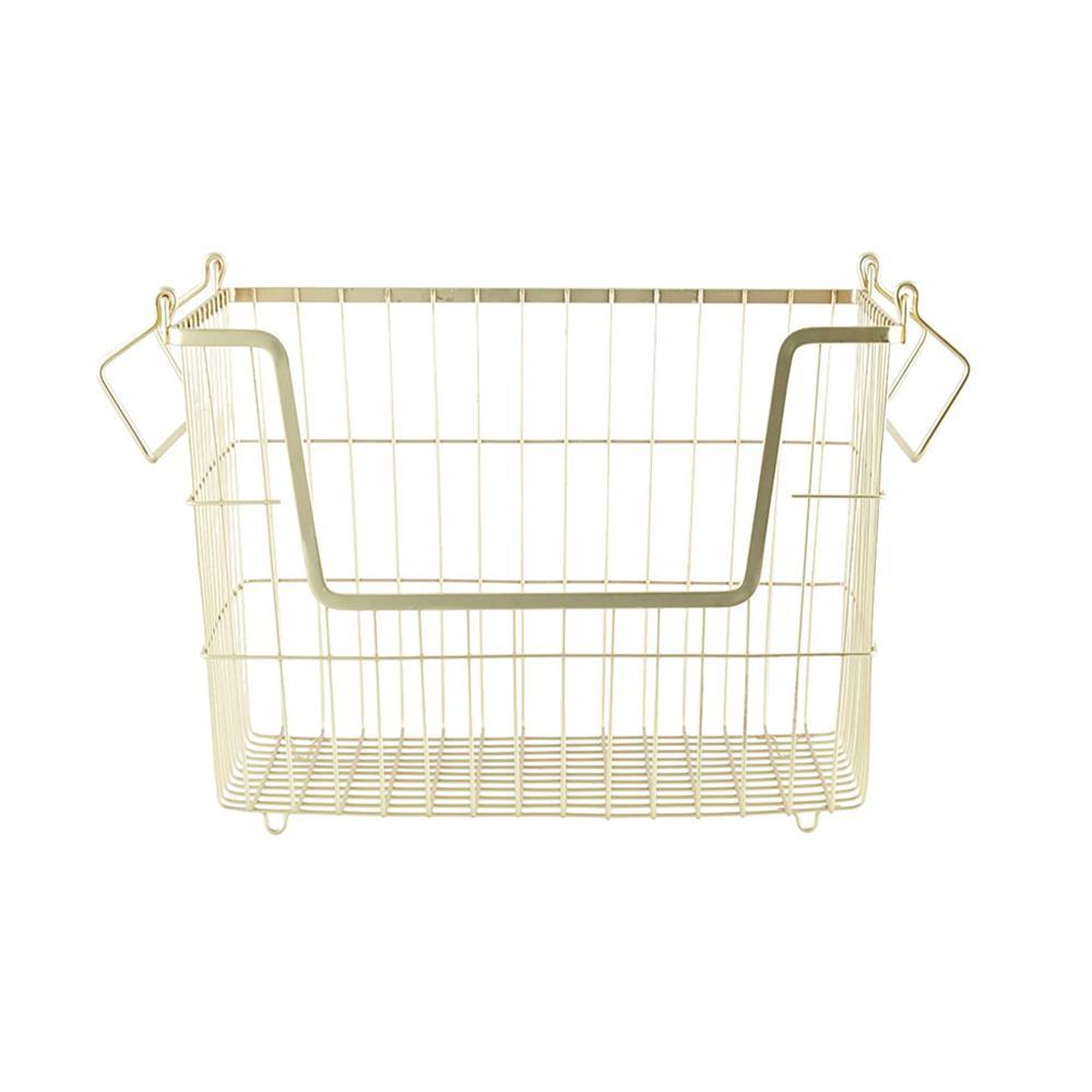 Matte golden basket for storing socks and underwear