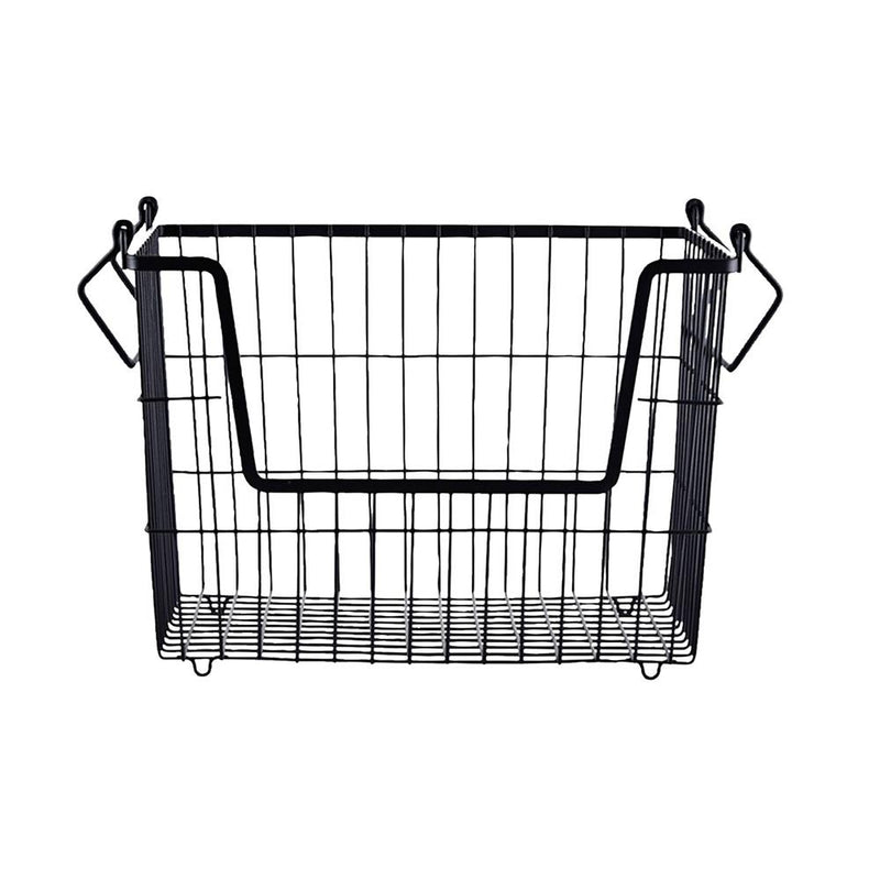 Matte black basket for storing socks and underwear