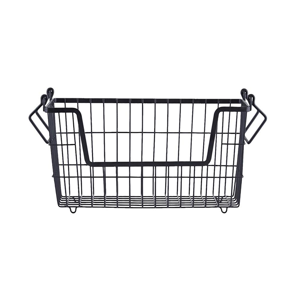 Basket in matte black for storage of underwear and socks