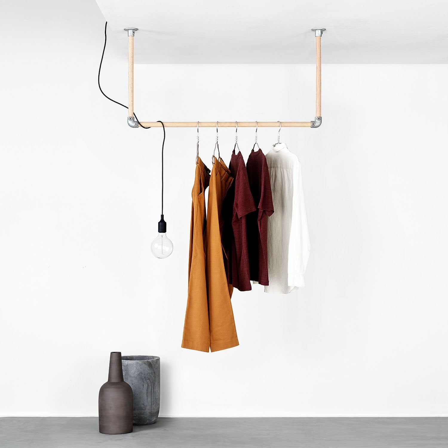 RackBuddy Kim – Ceiling-mounted clothes rail
