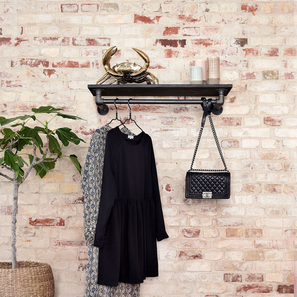 RackBuddy Marlow - Wall-mounted clothes rail with shelf