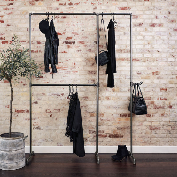 RackBuddy Wild Bill Elliot - Clothes rack with rail for dresses and coats