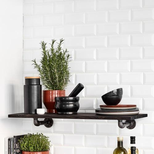 RackBuddy John - Shelf in wood with black supports