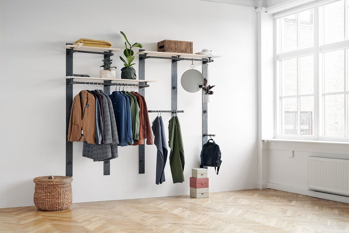flexible wardrobe system from RackBuddy