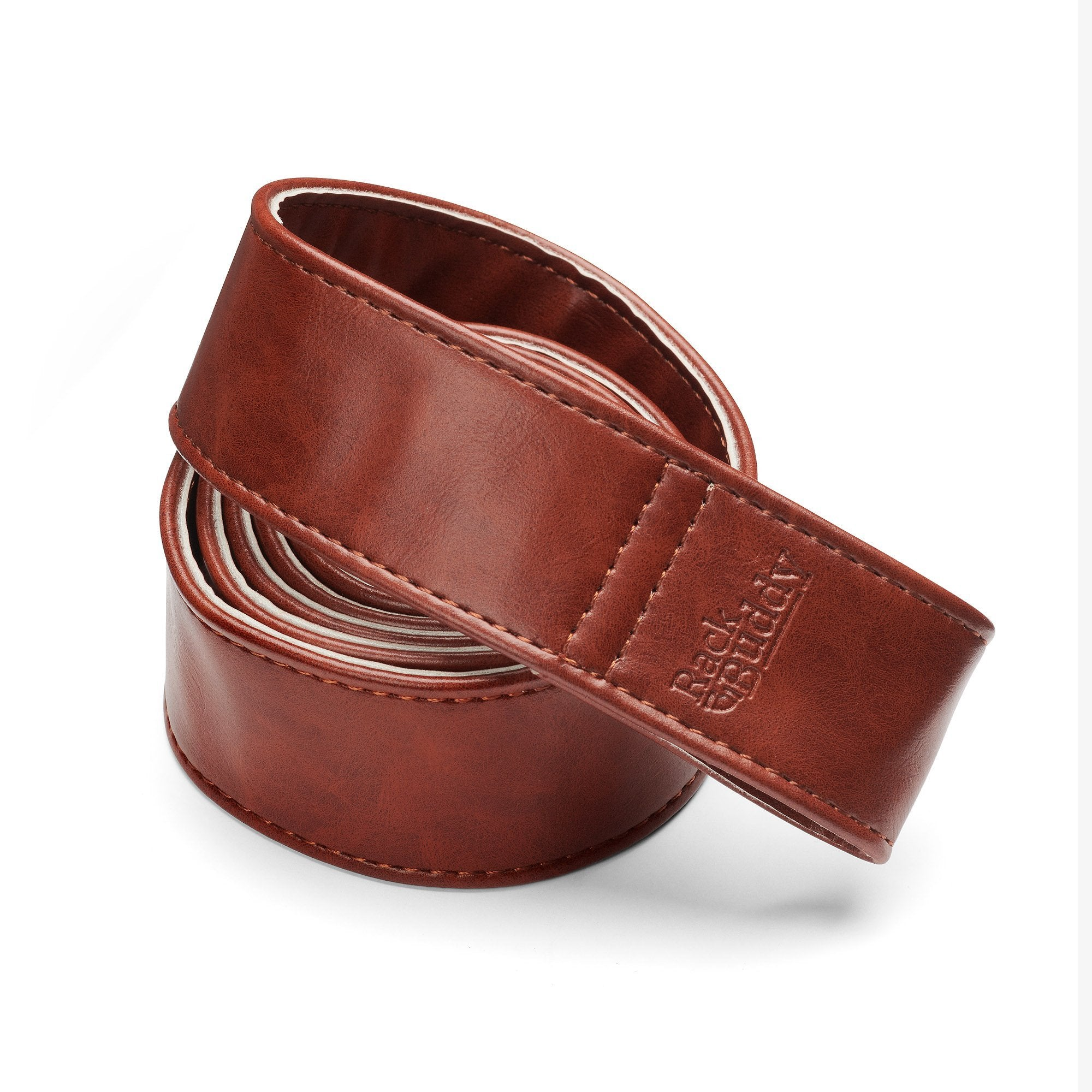 Leatherish - Dark brown straps in PU-leather