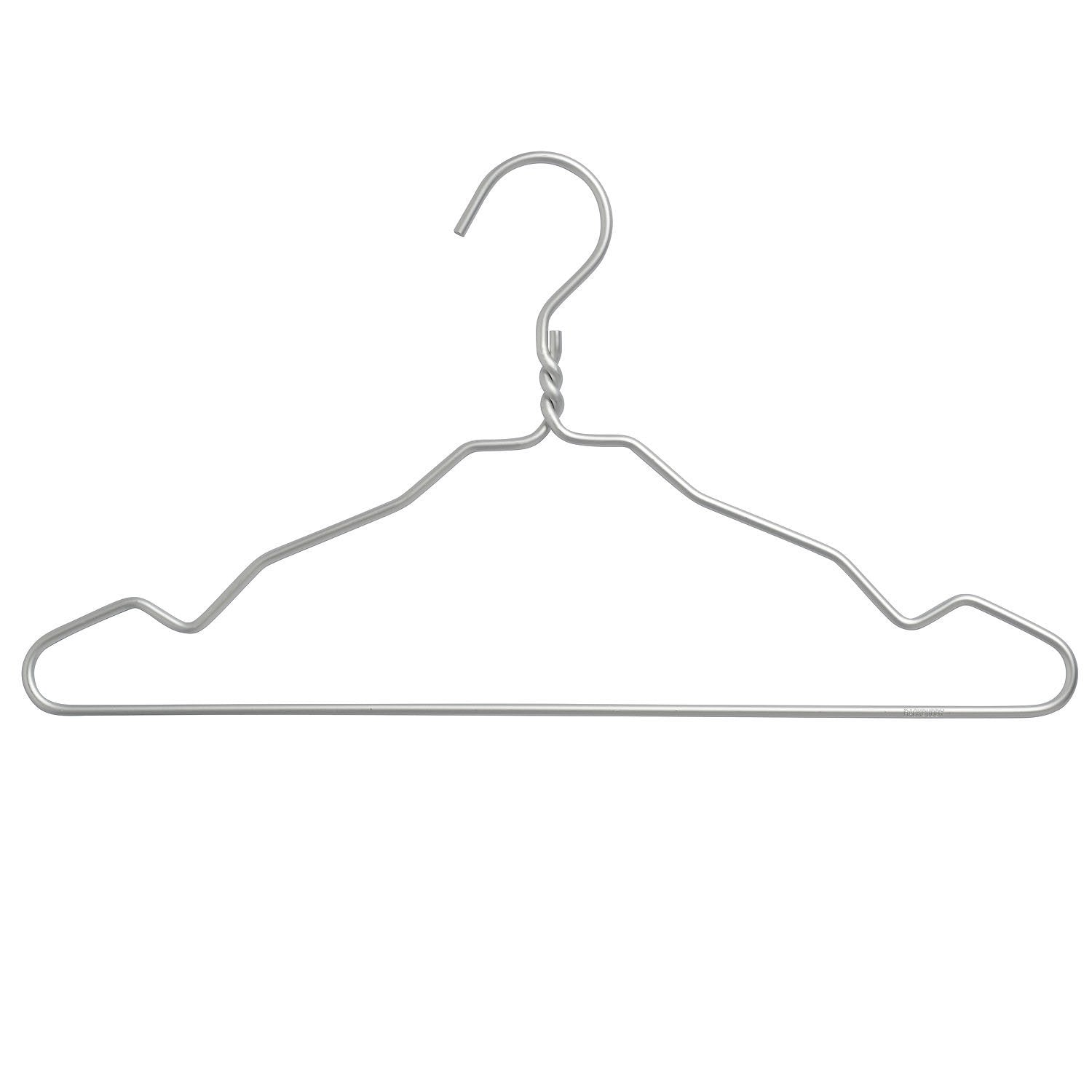 Clothes hangers in silver