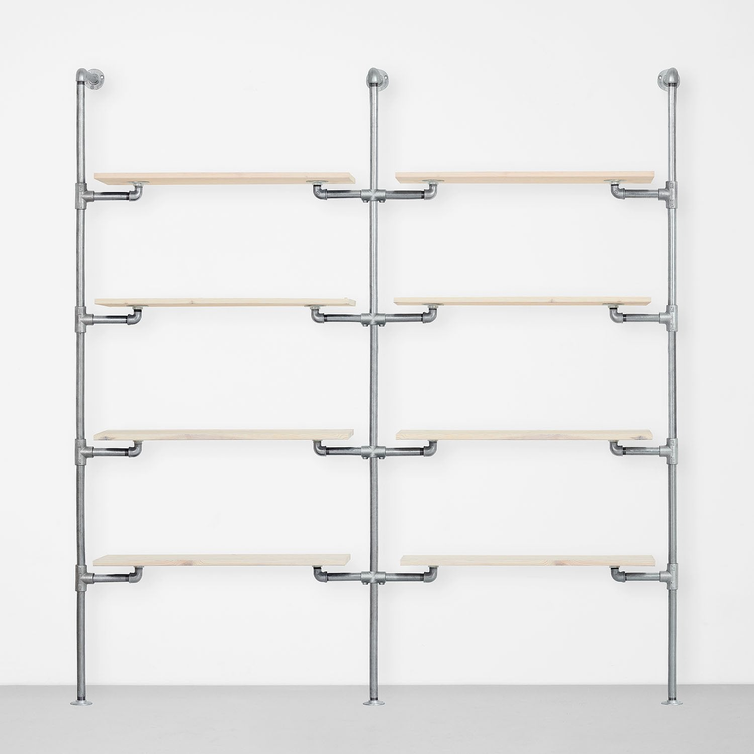 The Walk-In 2 row wardrobe system - (4 shelves / 4 shelves)