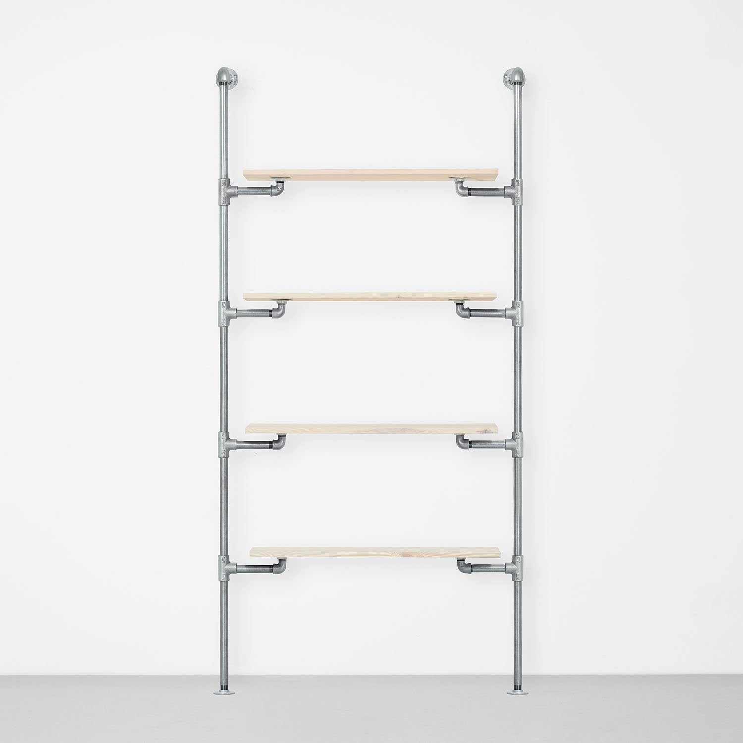 The Walk-In 1 row wardrobe system - (4 shelves)