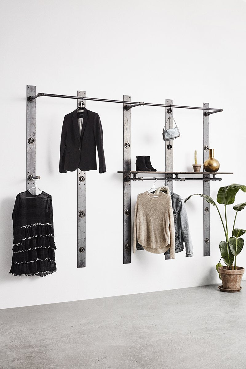 Wall fixture - wardrobe - clothing stores - very flexible