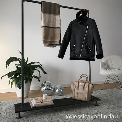 RackBuddy Jessie – Clothes rack with wooden shelf