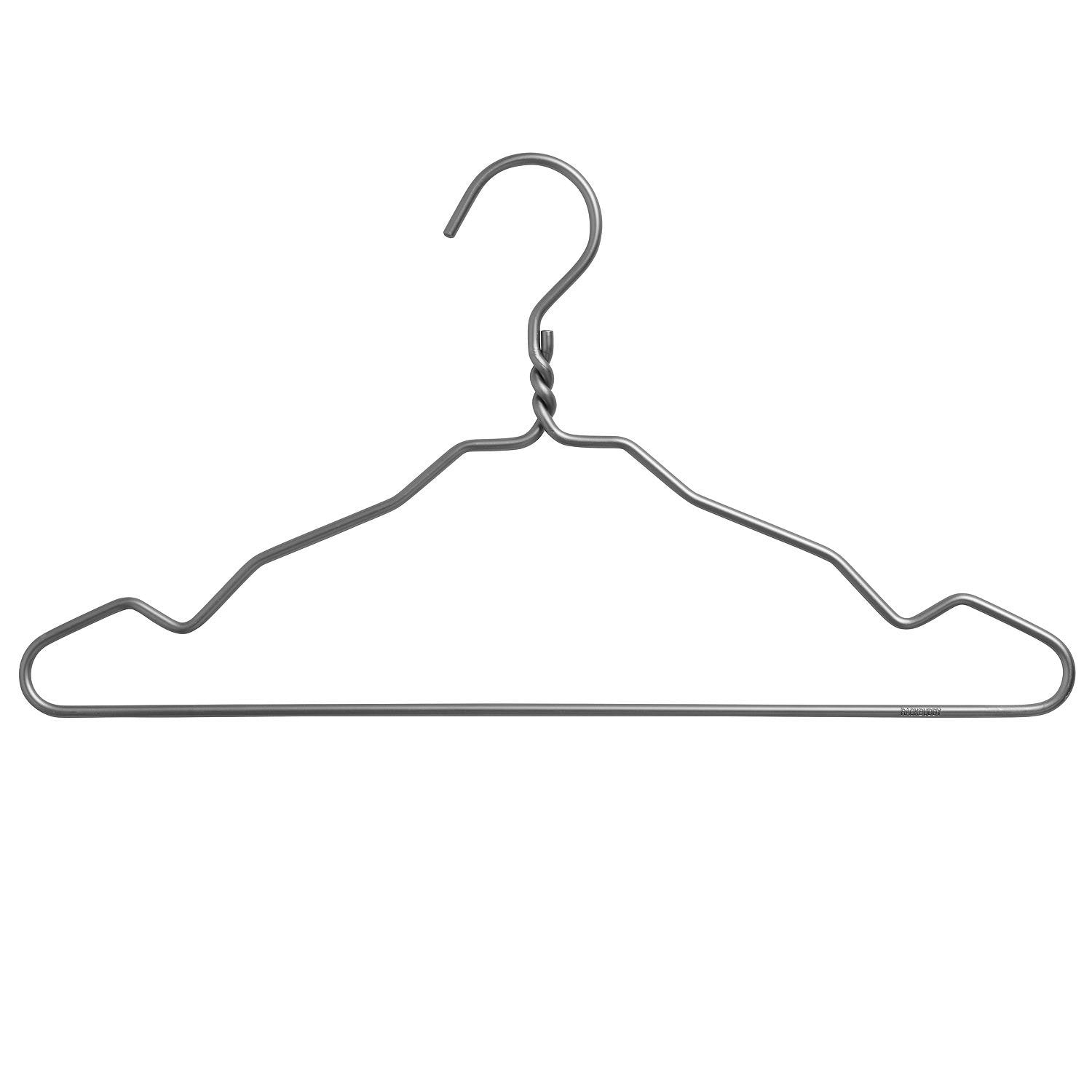 Clothes hangers in dark grey