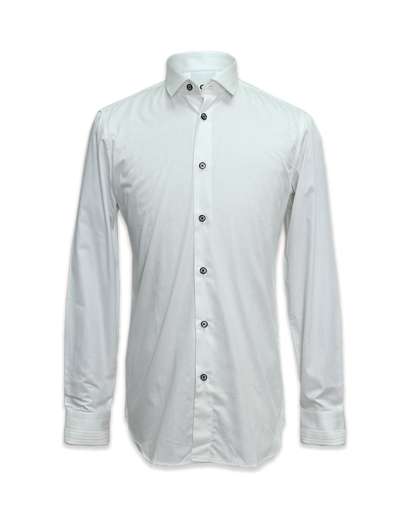 Long Sleeved Pleated Yoke Shirt