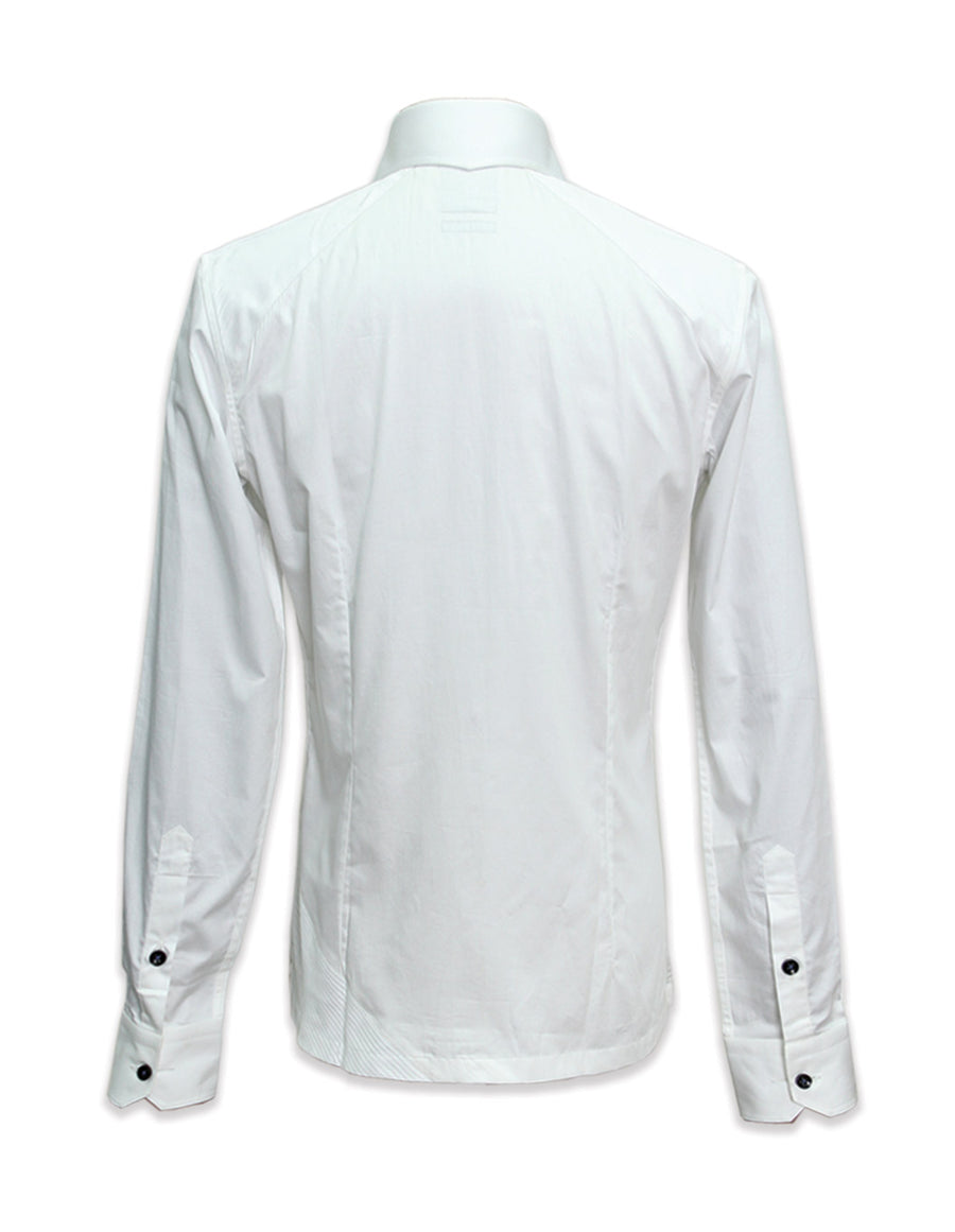 Long Sleeved Shirt With Asymmetrical Hem
