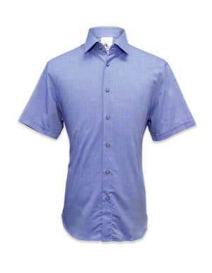 Short Sleeved Herringbone Shirt