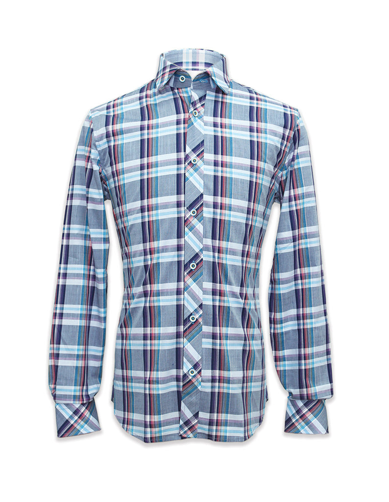 Long Sleeves Alister Blue Plaid Shirt