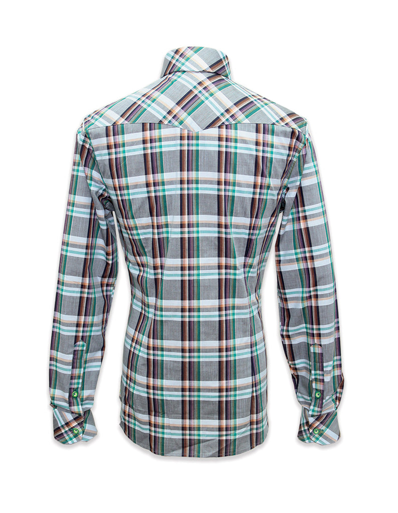 Long Sleeves Alister Green Plaid Shirt