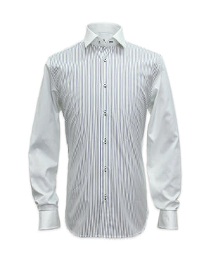 Long Sleeved Striped Front Shirt