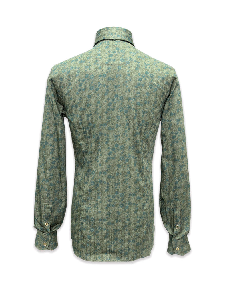 Long Sleeved Green Indiana Print Shirt