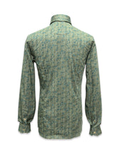 Load image into Gallery viewer, Long Sleeved Green Indiana Print Shirt