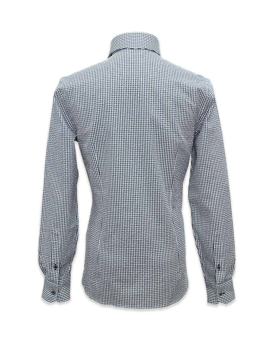 Long Sleeved Poesia Blue Shirt