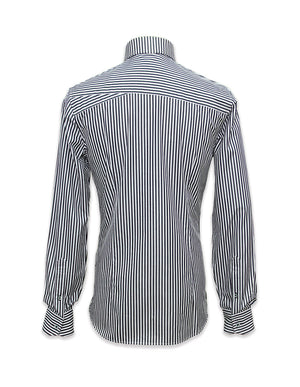 Long Sleeved Black&White Stripes Shirt