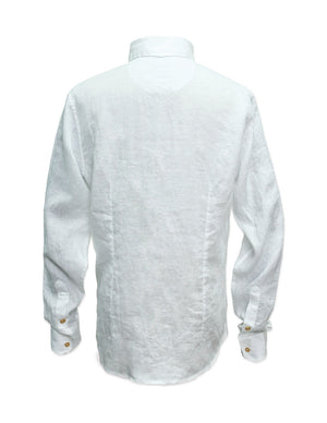 Long Sleeved Tropical Linen Shirt