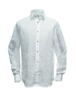 Long Sleeves Tropical Linen Shirt