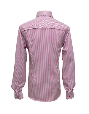 Long Sleeved Pink Bengal Stripe Shirt