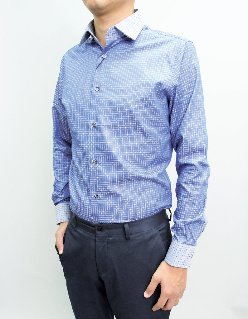 Long Sleeved Merlin Blue Shirt