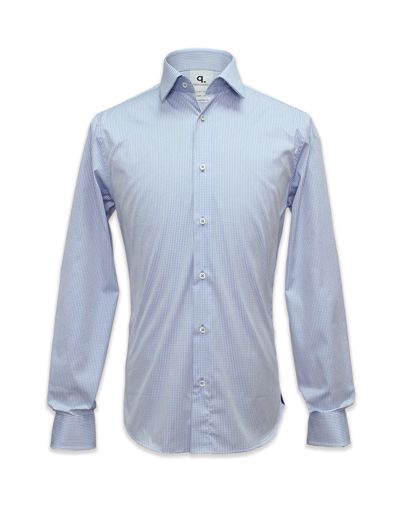 Long Sleeved Cyrus Blue Checks Shirt