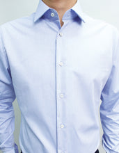 Load image into Gallery viewer, Long Sleeved Blue Honeycomb Shirt