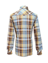 Load image into Gallery viewer, Long Sleeved Brown Plaid Shirt