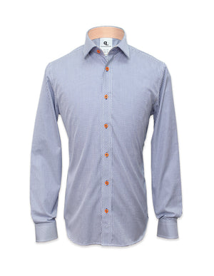 Long Sleeved Blue Checks Shirt