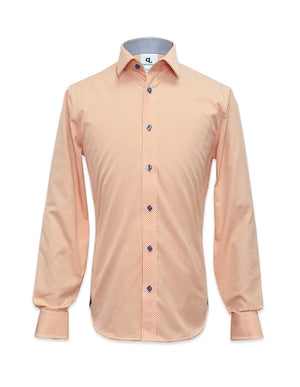 Long Sleeved Orange Checks Shirt