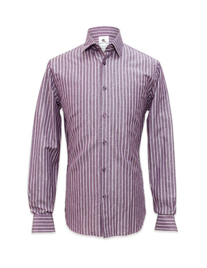 Long Sleeved Striped Purple Shirt