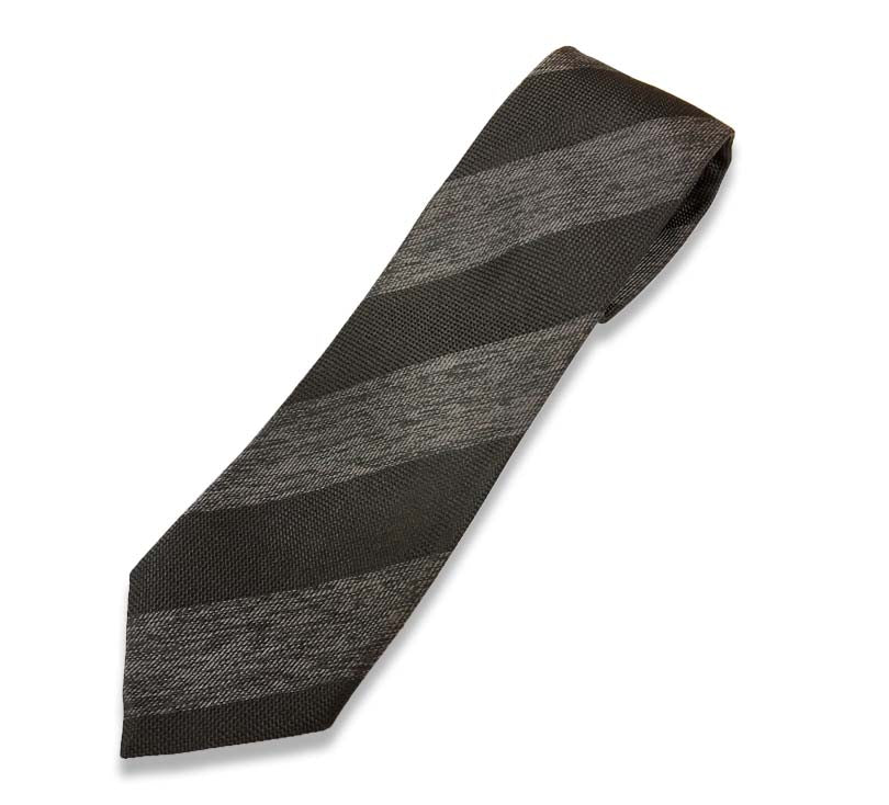 Black And Grey Stripe Silk Tie