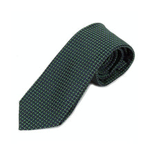 Load image into Gallery viewer, Blue Green Web Silk Tie