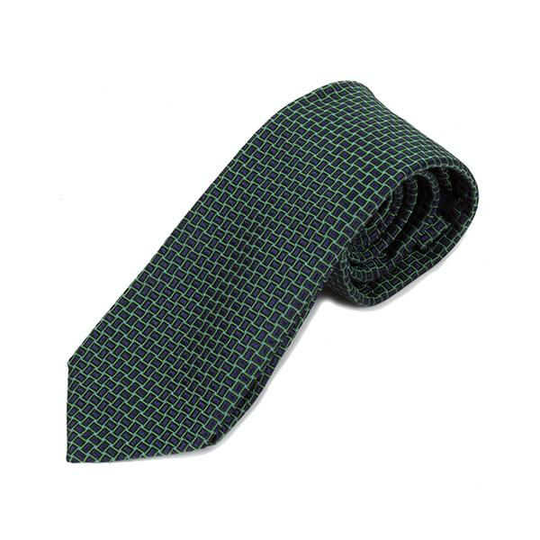 Blue Green Web Silk Tie